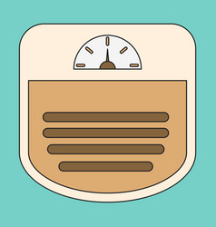 Icon in flat design sports scales vector