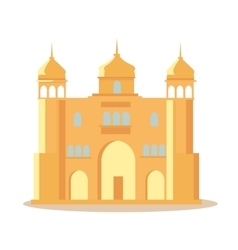 Indian Palace in Flat Design vector