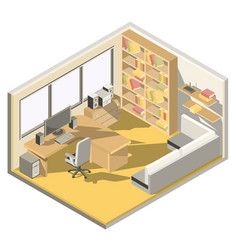 isometric design a home office vector image