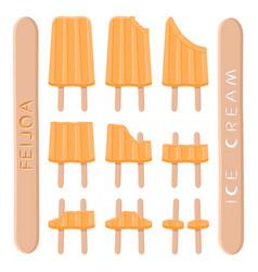 Logo for natural feijoa ice cream vector