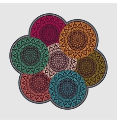 Mandala Vintage decorative elements background vector image