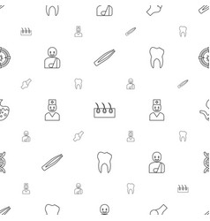 Medicine icons pattern seamless white background vector