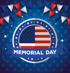 Memorial day honoring all who served vector