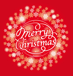 merry christmas text design vector image