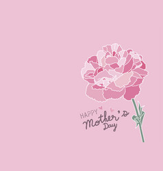 Mothers day design and pink carnation flower vector