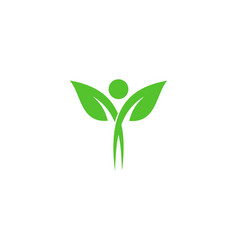 Natural wellness logo icon design vector