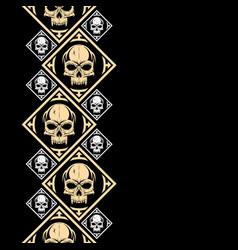 New pattern 2019 skull 0009 vector