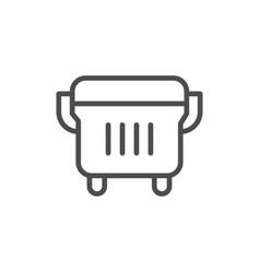 outdoor dustbin line icon vector image