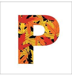 P Letter vector