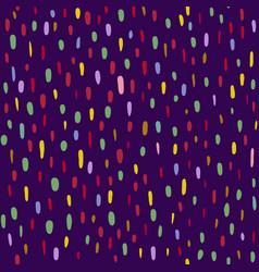 Pattern multi-colored dotssmears spots ovals vector