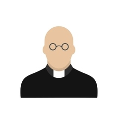 Priest icon flat vector image