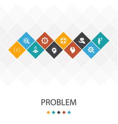 Problem trendy ui template infographics concept vector