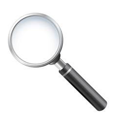 realistic magnifying glass vector image