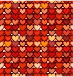 Red mottled hearts seamless pattern vector image