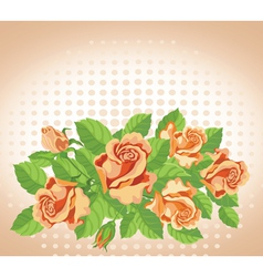 roses card fine vector image