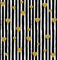 Seamless pattern on white background with black vector image