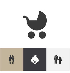 set of 4 editable kin icons includes symbols such vector image