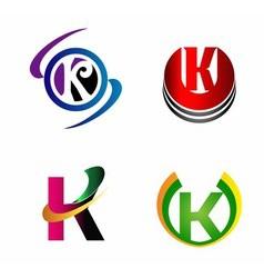 Set of Letter K logo vector