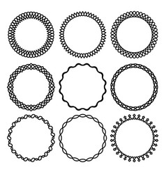 Set of round twisted frame 2 vector