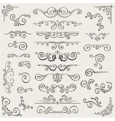 set of Swirl Elements for design vector image