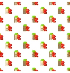 Slide pipe pattern cartoon style vector