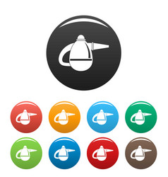 Small hand vacuum cleaner icons set color vector