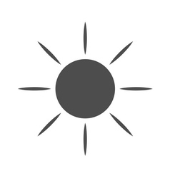 Sun icon Light sunbeams Gray vector image
