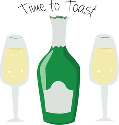 Time to Toast vector image