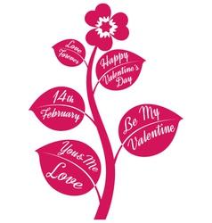 valentine flower vector image