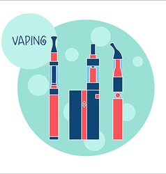 vaping e-cigarette device vector image