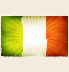 vintage irish flag poster background vector image