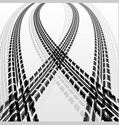 Warp tire tracks vector
