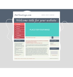 Website business template layout with text vector image