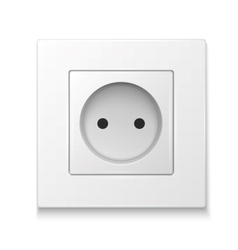 White socket outlet vector image