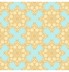 Yellow Beige Pattern on a Pastel Blue Background vector image