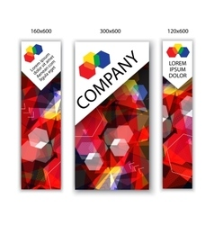 banners with abstract background Modern vector image vector image