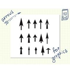 Black arrows in vector image