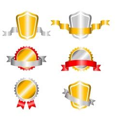 crown and ribbon vector image