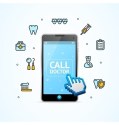 Doctor Call vector image
