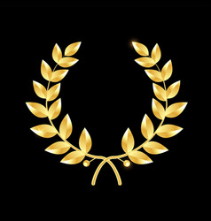 gold laurel wreath symbol of victory and vector image