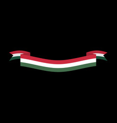 hungary flag isolated hungarian ribbon banner vector image vector image
