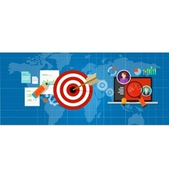 online strategy measure manage internet traffic vector image vector image