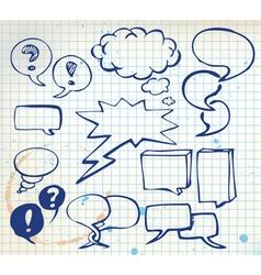 doodle speech bubbles vector image vector image