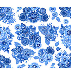 fashion seamless texture with blue stylized vector image vector image