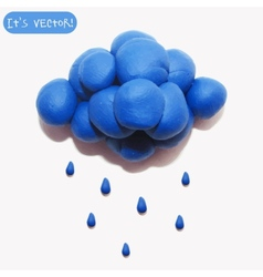 Icon of plasticine cloud vector image