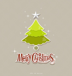 Modern christmas tree design vector image vector image