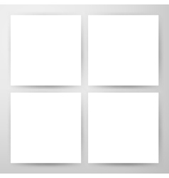 Square Blank Flyers Mockup vector image vector image