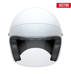White motorbike classic helmet with clear glass vector image vector image
