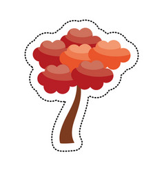 cute tree japanese decoration image vector image