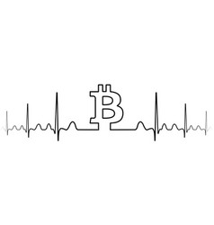 fluctuation exchange rate bitcoin one line drawing vector image vector image